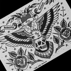 60 Super Ideas For Tattoo Traditional Eagle Tat Traditional Chest Tattoo, Traditional Eagle Tattoo, Traditional Tattoo Old School, Traditional Tattoo Design, Traditional Tattoo Stencils, Traditional Tattoo Drawings, Backpiece Tattoo, 4 Tattoo, Body Art Tattoos