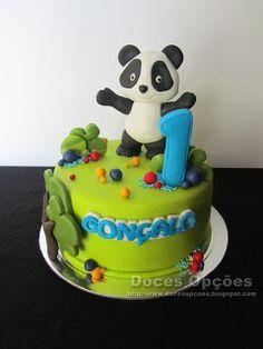 Doces Opções: O Panda no 1º aniversário do Gonçalo Panda Birthday Party, Panda Party, Birthday Parties, Birthday Cake, Bolo Sofia, Bolo Panda, Panda Cakes, Cupcake Cakes, Cupcakes