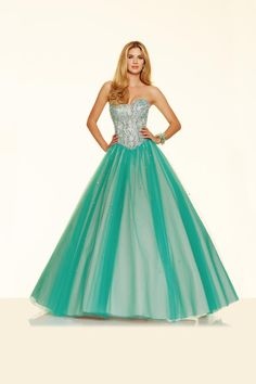 10315b5712 Size 2 Mint-Leaf Mori Lee Paparazzi 98011 is a strapless Tulle Ball Gown  with