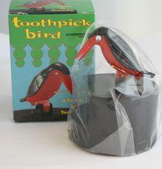 1000 images about kitchen decor patterns bakeware cookware on pinterest cafe curtains - Toothpick dispenser bird ...