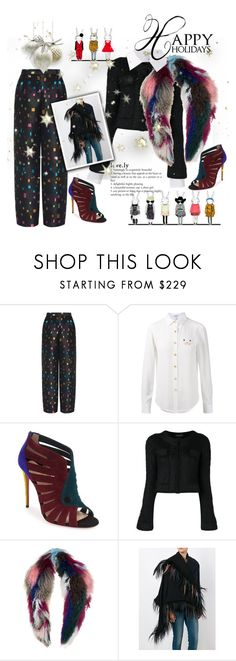 """Happy Holidays!"" by vittorio-1 ❤ liked on Polyvore featuring Emporio Armani, Loewe, Christian Louboutin, Charlotte Simone and Giorgio Armani"