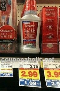 Kroger: $0.99 Colgate Optic White Mouthwash with Mega Sale and printable coupon! - http://www.couponaholic.net/2015/06/kroger-0-99-colgate-optic-white-mouthwash-with-mega-sale-and-printable-coupon/