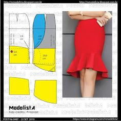 Diy Fashion Tops, Fashion Sewing, Sewing Clothes Women, Diy Clothes, Clothing Patterns, Sewing Patterns, Pola Rok, Costura Fashion, Blouse Batik