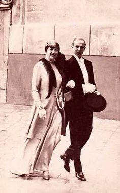 Le comte de Paris et sa mere la duchesse de Guise