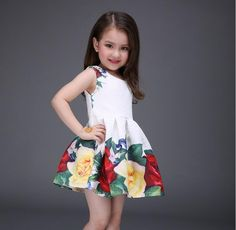 Pretty Girl Vest Dress Roses Leaf Pattern 100 140cm Princess Fold Cotton Casual Dance Skirt Mitun Baby Clothes Birthday Gift B45 Childrens Summer Dresses Girls Clothing Dresses From Lucky_market, $16.21| Dhgate.Com
