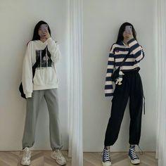 Korean Girl Fashion, Korean Fashion Trends, Korean Street Fashion, Ulzzang Fashion, Korea Fashion, Cute Fashion, Look Fashion, Korean Fashion Casual, Daily Fashion