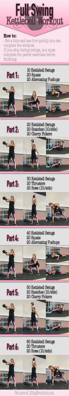 Total Body Kettlebell Workout revolving around heart thumbing swings…
