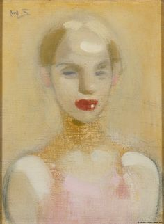 Helene Schjerfbeck - Circus Girl, oil on canvas, Ateneum Art Museum, Helsinki. Helene Schjerfbeck, Helsinki, Portraits Illustrés, Pierrot Clown, Montage Photo, Royal Academy Of Arts, Oeuvre D'art, Figurative Art, Painting Inspiration
