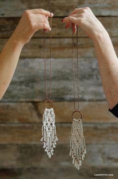 Easy macrame necklace tutorial                                                                                                                                                                                 More                                                                                                                                                                                 More #diyjewelry