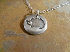 hedgehog jewelry   Fine Silver Hedgehog Pendant Necklace by ...   Jewelry from Nature