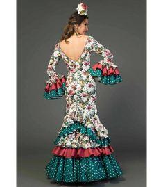 trajes de flamenca 2018 mujer - Aires de Feria - Vestido de flamenca Saeta Estampado