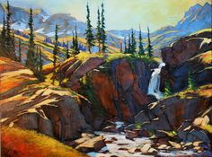 david langevin. the valley falls 36x48 ac