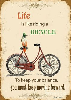 Life Typography-Bicyle Digital Art