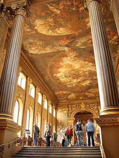The Painted Hall in Greenwich. Seen in lots an lots of Hollywood films including the recent Pirates of the Caribbean with Captain Jack Sparrow
