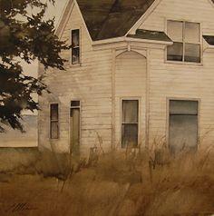 """Corner View"" by Joseph Alleman - Watercolor ~ 16"" x 16"""