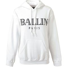 1b02f552ea7 BRIAN LICHTENBERG Unisex  Ballin  Cotton Hooded Sweatshirt ( 177) ❤ liked  on Polyvore