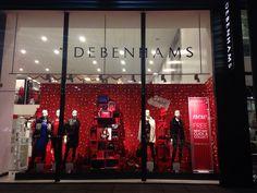 Debenhams Xmas windows #windows #visual #merchandising #debenhams #foundit #partywear #Debenhams.orpington #christmas #bysally
