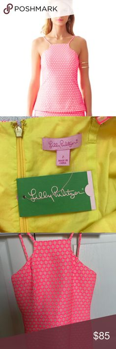 🆕 Lilly Pulitzer Costello Top Geo Jacquard Pink Adorable Lilly Pulitzer Costello Top, Geo Jacquard in Hotty Pink. New with tags! Size 2. Lilly Pulitzer Tops