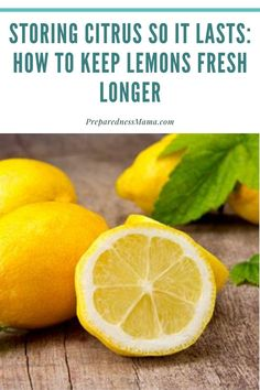 If youre like me then you love to keep lemons around the house at all times for things like cooking cleaning and making refreshing drinks like lemon water. Canning Recipes, Kitchen Recipes, Freezing Lemons, Long Term Food Storage, Lemon Benefits, Dehydrated Food, Lemon Water, Food Hacks, Food Tips