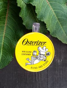 Small Vintage Measuring Jar with Yellow Lid; Osterizer Liquefier-Blender Mini-Blend Container; Kitchenware Gadget by zincfineart on Etsy