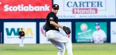Former Marauder pitcher Tim Mayza is pitching with the Vancouver Canadians in his second year as a pro.