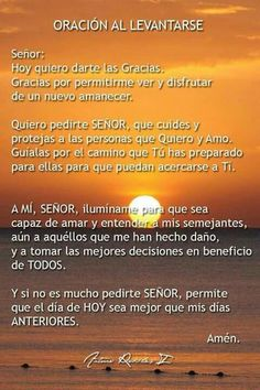Oración de la mañana