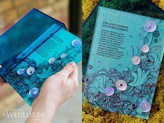 blue wedding box invite