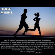 For my running buddies :-) I'm so lucky that I almost never have to run alone anymore!