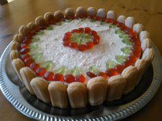 Cheesecake with sugar gum