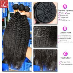 Kinky Straight Virgin Hair Weave http://www.latesthair.com/