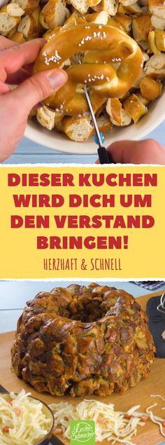 Saudável e rápida de se preparar! Torta alemã feita de salsicha e pretzel. Party Snacks, Keto Snacks, Healthy Snacks, Party Drinks, Party Party, Easy Healthy Recipes, Easy Meals, Fast Recipes, Aperitivos Keto