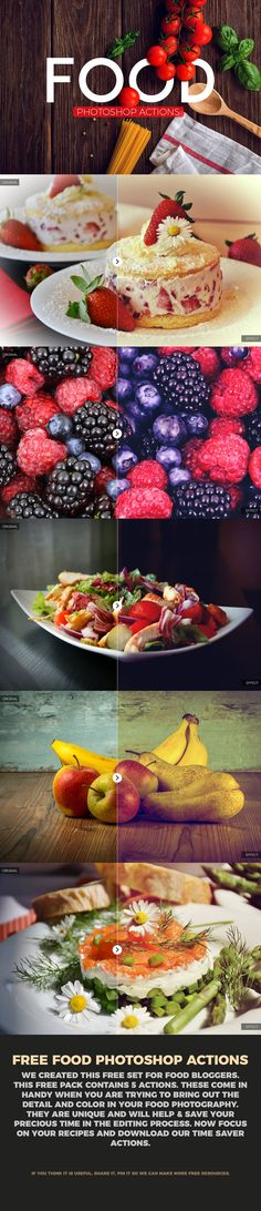 Free Food Photography Photoshop Actions