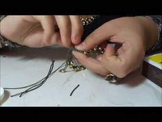 ▶ Tutorial 5 - Pulseira em macramê com bolinhas douradas 4,5mm - LojaDaBijuteria - YouTube