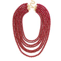 Bold Beaded Strands ($38) ❤ liked on Polyvore featuring jewelry, necklaces, multi strand necklace, multi-chain necklace, beaded strand necklace, multi strand beaded necklace and beading necklaces