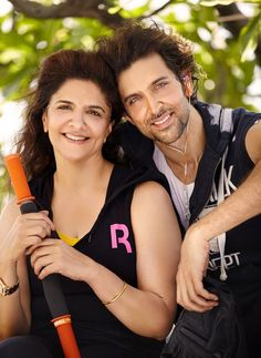 #HrithikRoshan with his mother Pinky Roshan.
