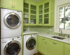 great cheerful color for the laundry room