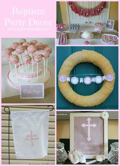 Baptism Party Decor from Dessert Table to Personalized Decorations