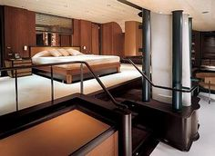 bedroom-bathroom, interior of the satori yacht by remi tessier _, Innenarchitektur ideen