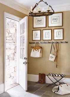 gallery wall, mudroom like the idea of doing a gallery wall with hooks for an entry