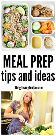 Meal prep process from the glowing fridge vegan meal prep