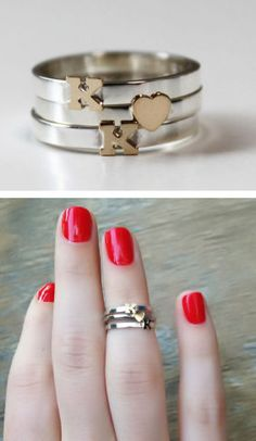 Custom Initial Knuckle Rings This would be beautiful, extra beautiful if I had a Bf ; Mid Rings, Jewelry Accessories, Fashion Accessories, Love Fashion, Womens Fashion, Knuckle Rings, Wow Products, Ring Necklace, Sterling Silver Bracelets