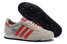 a buon prezzo Scarpe da corsa Uomo Adidas Originals Dragon - grigio e rosso fuoco