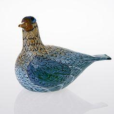 OIVA TOIKKA - Lasilintu, signeerattu, Oiva Toikka, Nuutajärvi, Notsjö xxxx/2000. Icon Design, Design Art, Glass Birds, Glass Design, Bird Art, Finland, Modern Contemporary, Decorative Bowls, Glass Art