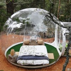 10 miles north of Marseille in Southern France lies the Attrap'Reves Hotel chain of mini villages with eco-friendly, fully furnished bubble rooms.