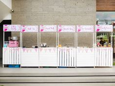 Jillian and Jilleen's Sweet Shoppe Themed Party – Birthday Events Place, Purple Table, Party Needs, Wonderland Party, Host A Party, Paper Lanterns, Party Photos, Mini Cupcakes, Table Centerpieces