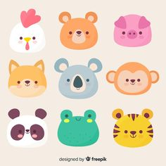More than 3 millions free vectors, PSD, photos and free icons. Exclusive freebie… More than 3 millions free vectors, PSD, photos and free icons. Exclusive freebies and all graphic resources that you need for your projects Cute Animal Illustration, Cute Animal Drawings, Kawaii Stickers, Cute Stickers, Griffonnages Kawaii, Doodles Kawaii, Rainbow Cartoon, Happy Easter Greetings, Its A Girl Balloons