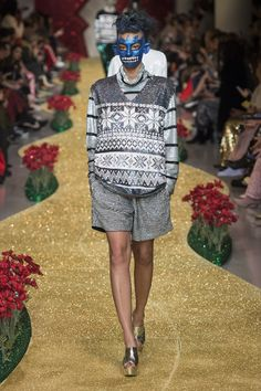 sequined fair isle print! 10/10 would wear.  Ashish Fall 2017 Ready-to-Wear collection.