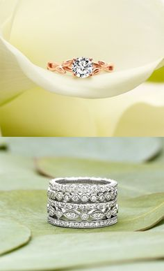 I love the idea of paring different colored rings together