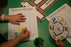 Lee's Kindergarten: More Brown Bear Fun and Lots of Pictures! Beginning Of School, Back To School, School Stuff, Mixing Primary Colors, Classroom Halloween Party, Rabbit Colors, Dots Game, Rainbow Writing, Kindergarten Rocks