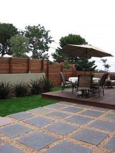 contemporary backyard deck